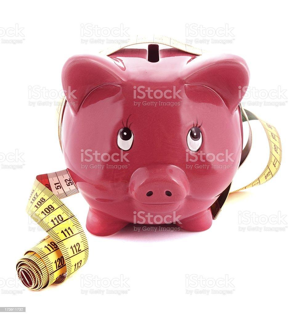 measuring piggy royalty-free stock photo