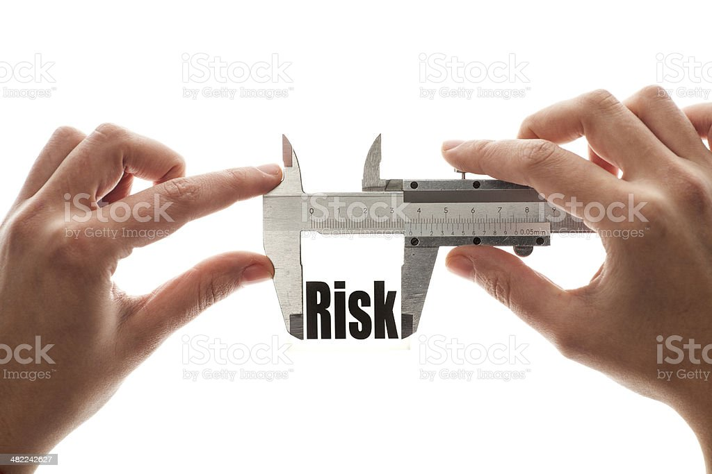 Measuring risk stock photo