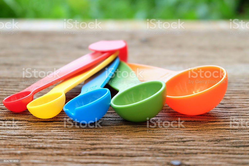 Measuring spoons stock photo