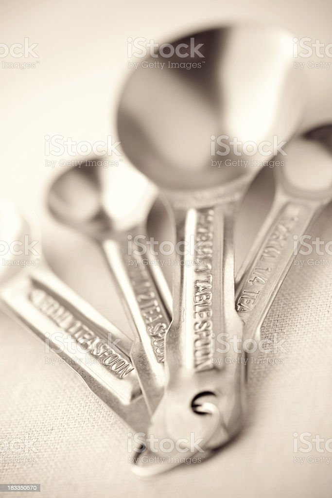 Measuring Spoons Selective Focus royalty-free stock photo