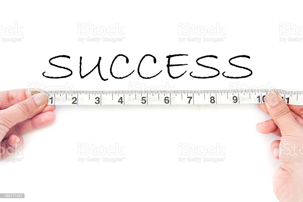 Measuring success stock photo