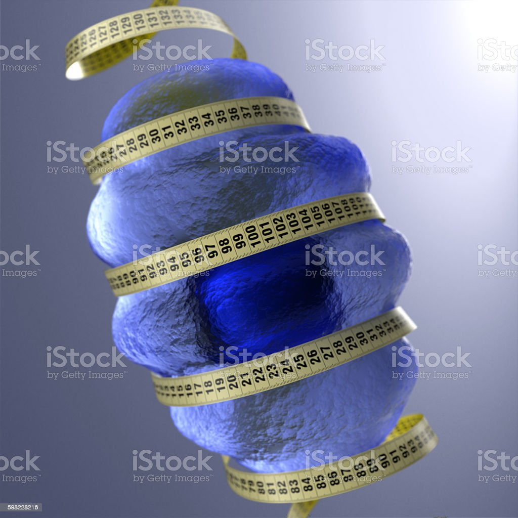 measuring tape and cell foto royalty-free