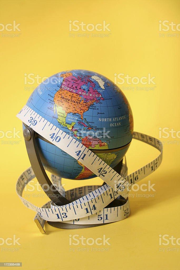 Cinta métrica de todo el mundo foto de stock libre de derechos