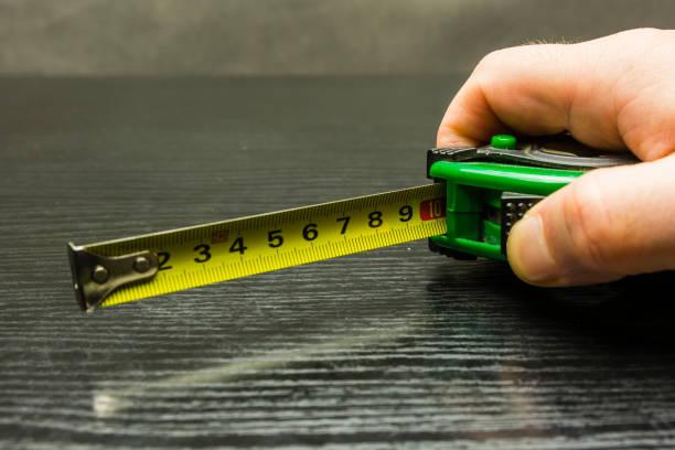 Ölçüm bandı on santimetre engellendi. stok fotoğrafı