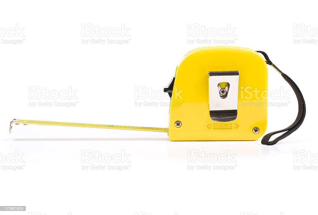 Measuring tape, isolated on white background royalty-free stock photo