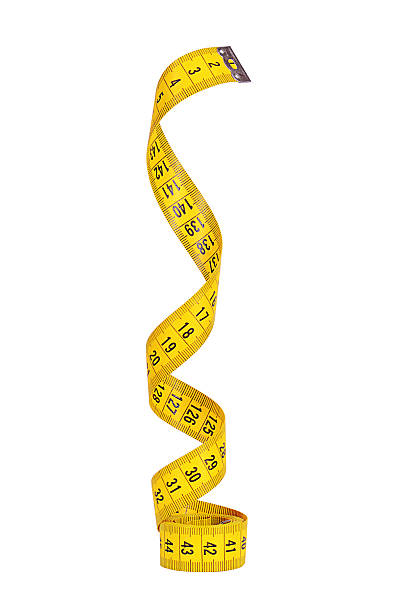 measuring tape isolated on white background - måttband mätinstrument bildbanksfoton och bilder