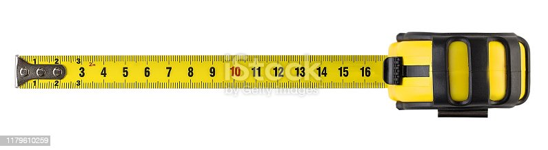 construction, tape, measure, isolated, white background