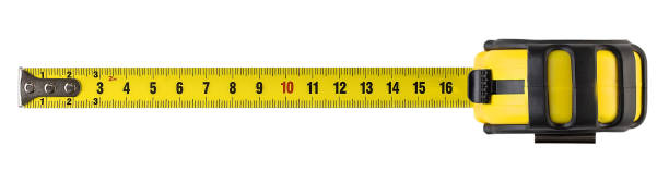Measuring tape isolated construction, tape, measure, isolated, white background tape measure stock pictures, royalty-free photos & images