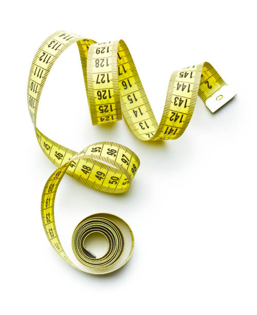 Measuring tape of the tailor Measuring tape of the tailor isolated on white background. tape measure stock pictures, royalty-free photos & images