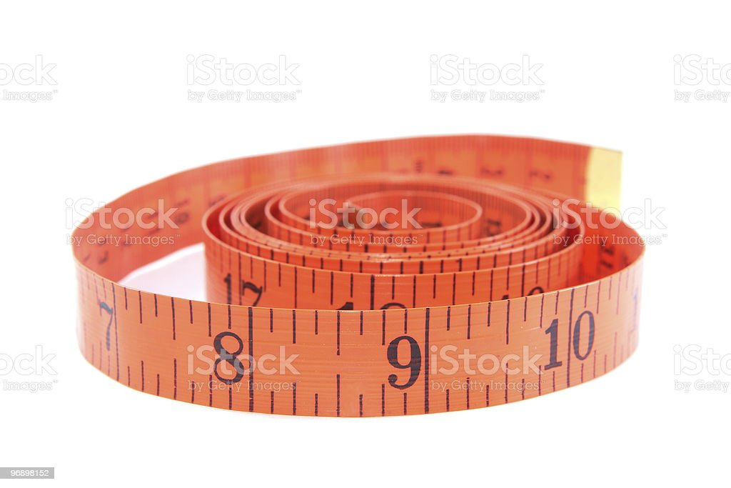 Measuring tape of the tailor royalty-free stock photo