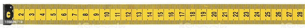 Measuring tape on white background, clipping path royalty-free stock photo