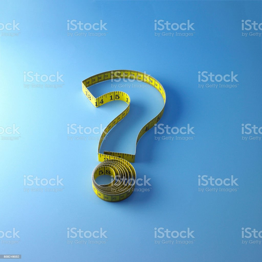 Measuring Tape Question Mark stock photo