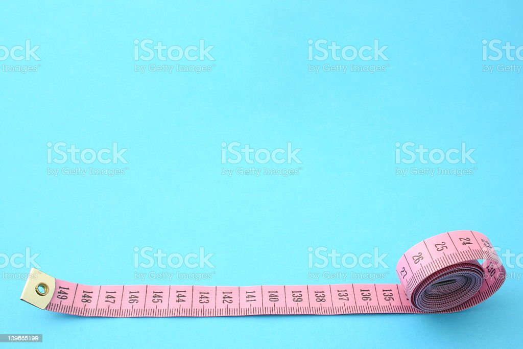 measuring tape with copy space stock photo