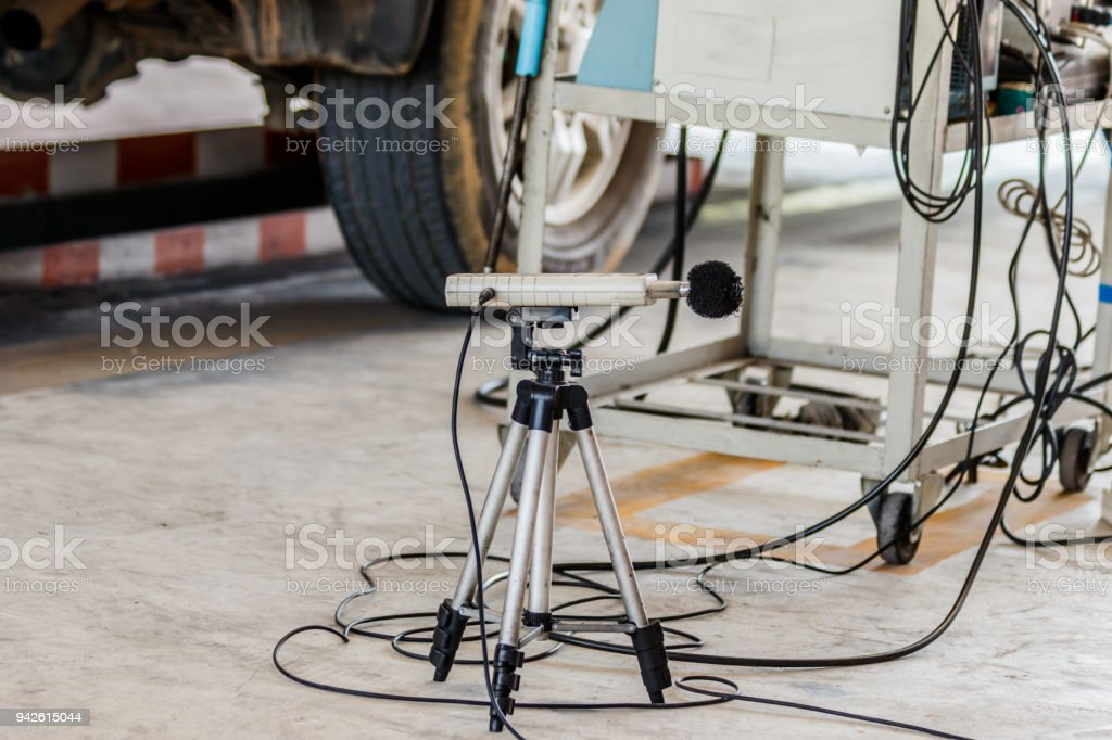 Measuring The Composition And Substances In The Exhaust Fumes In A Garage Stock Photo More Pictures Of Car