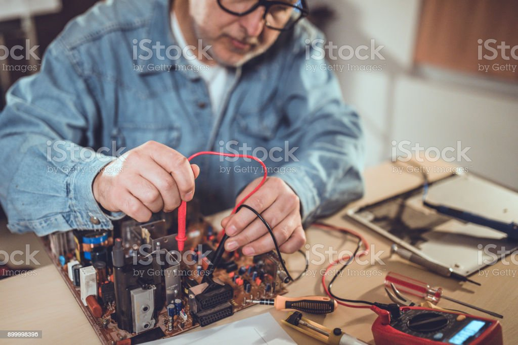 Measuring the current stock photo
