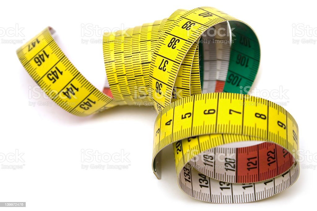 Measuring Tool (Top View) stock photo