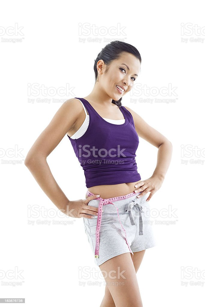 Measuring waist royalty-free stock photo