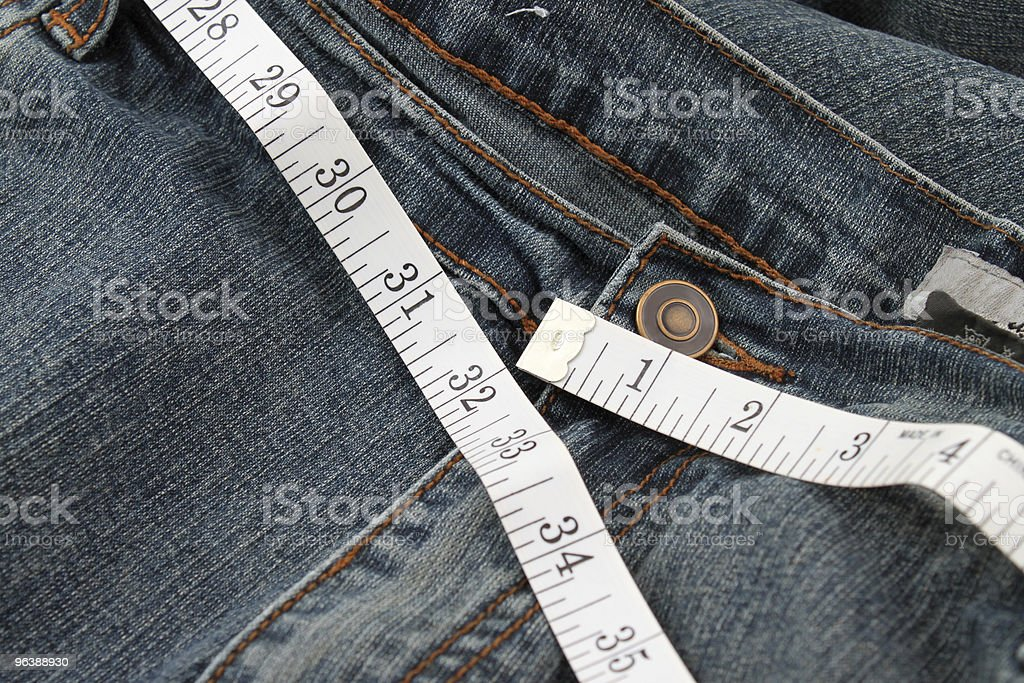 Measuring waste line - Royalty-free Belt Stock Photo