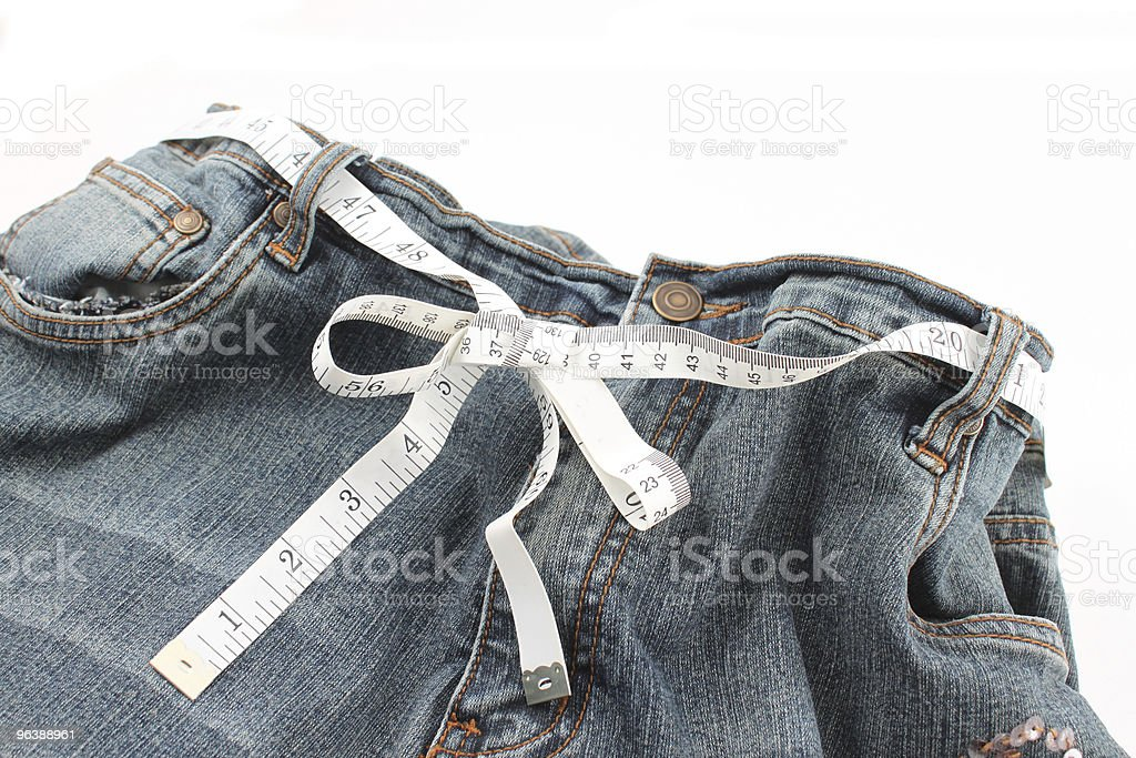 Measuring waste line - Royalty-free Aspirations Stock Photo