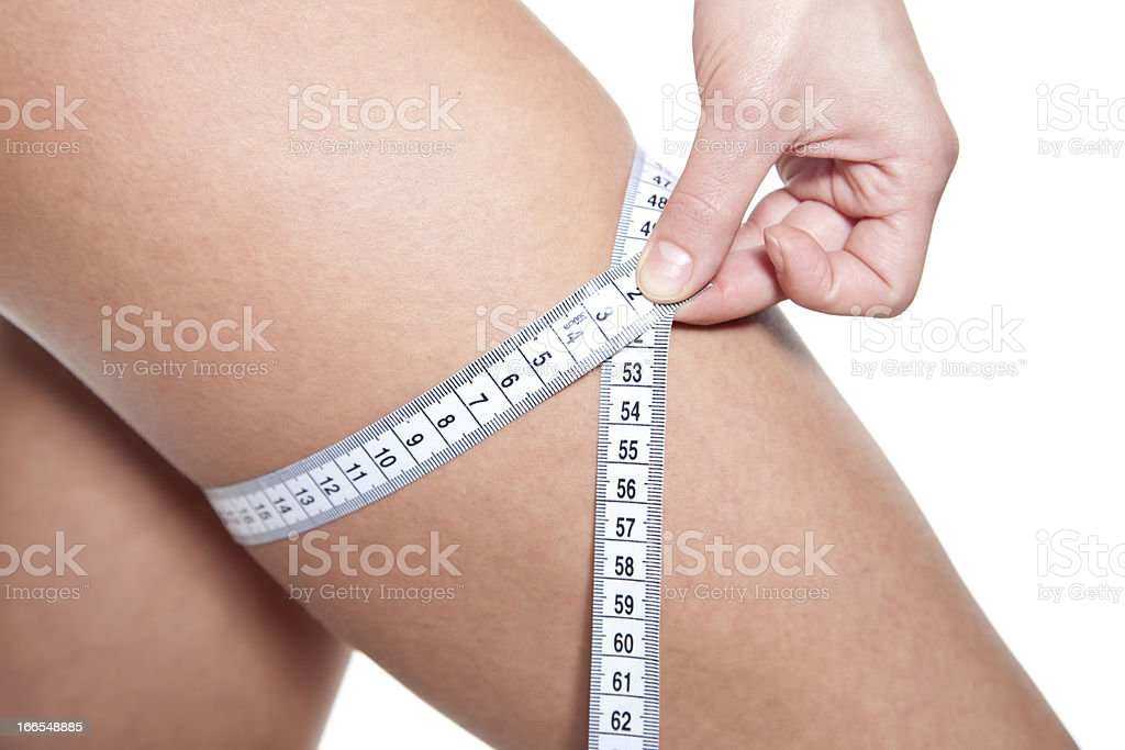 Measuring weightloss royalty-free stock photo