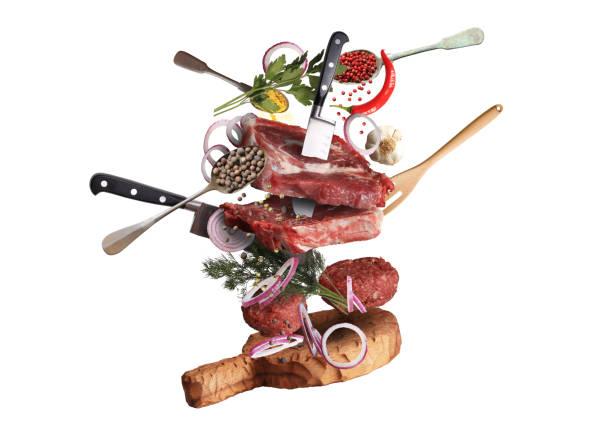 meat and beef - küche italienisch gestalten stock-fotos und bilder