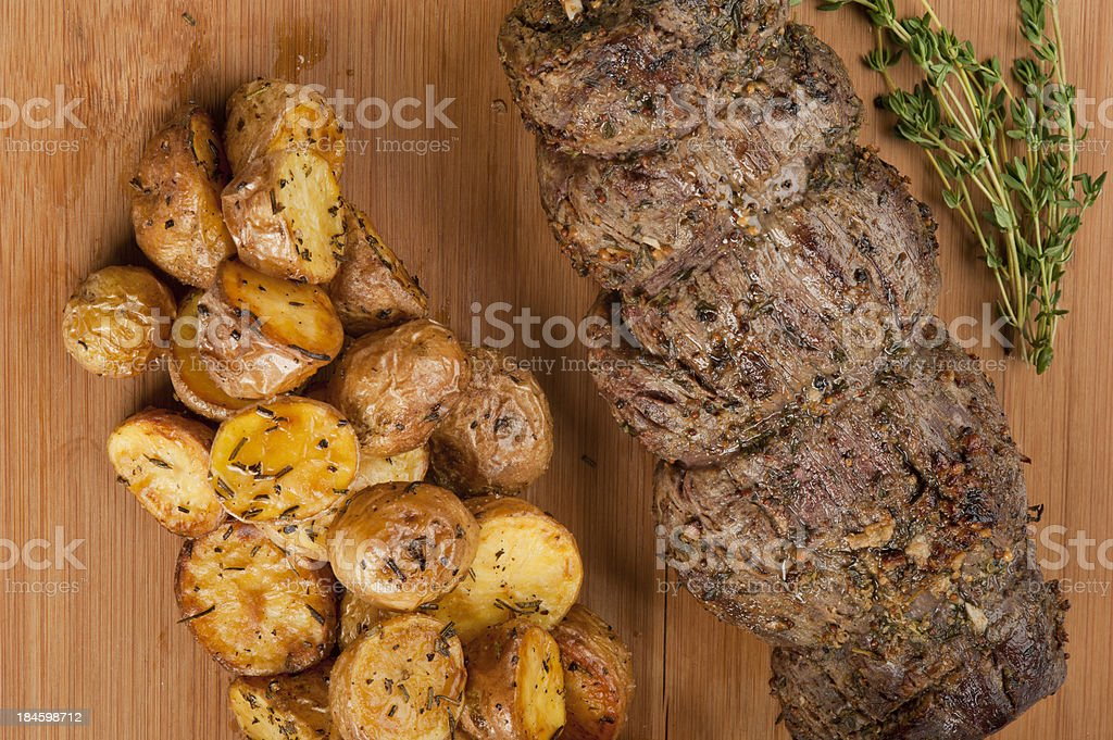 Meat and Patato royalty-free stock photo