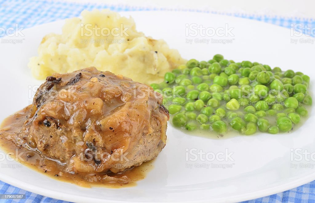 Meat and Potatoes stock photo