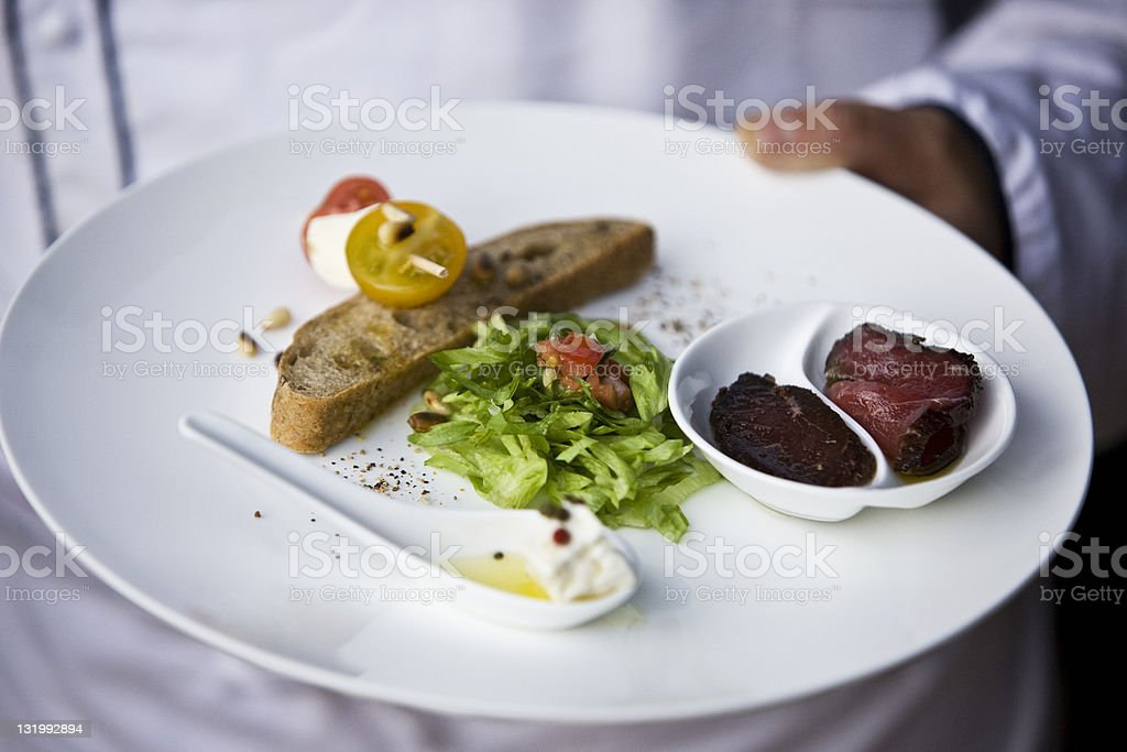 Meat and salad royalty-free stock photo