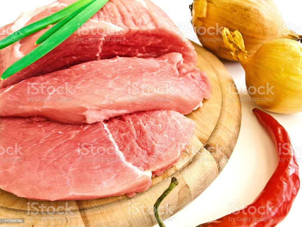 meat and vegetavles royalty-free stock photo