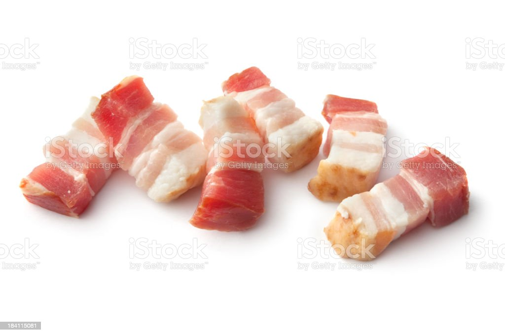 Meat: Bacon Isolated on White Background royalty-free stock photo
