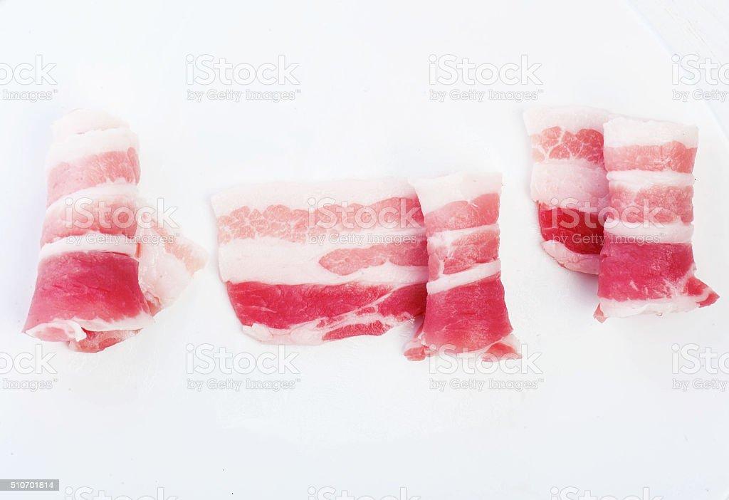 meat bacon stock photo