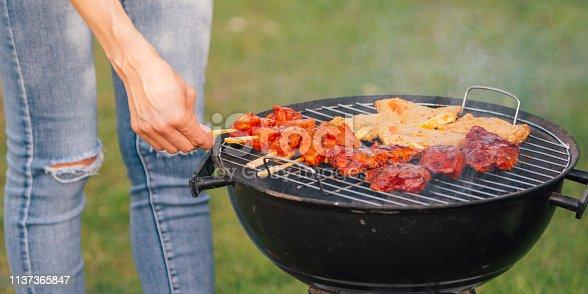 696841580 istock photo Meat barbecue closeup 1137365847
