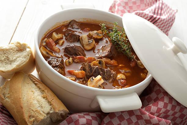 Meat: Beef Bourguignon Still Life stock photo