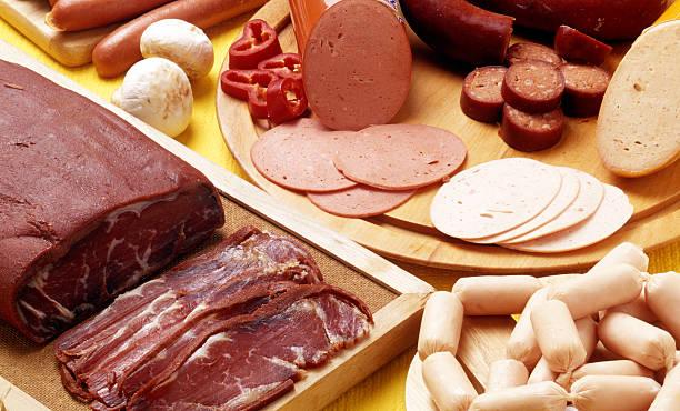 Meat breakfast stock photo
