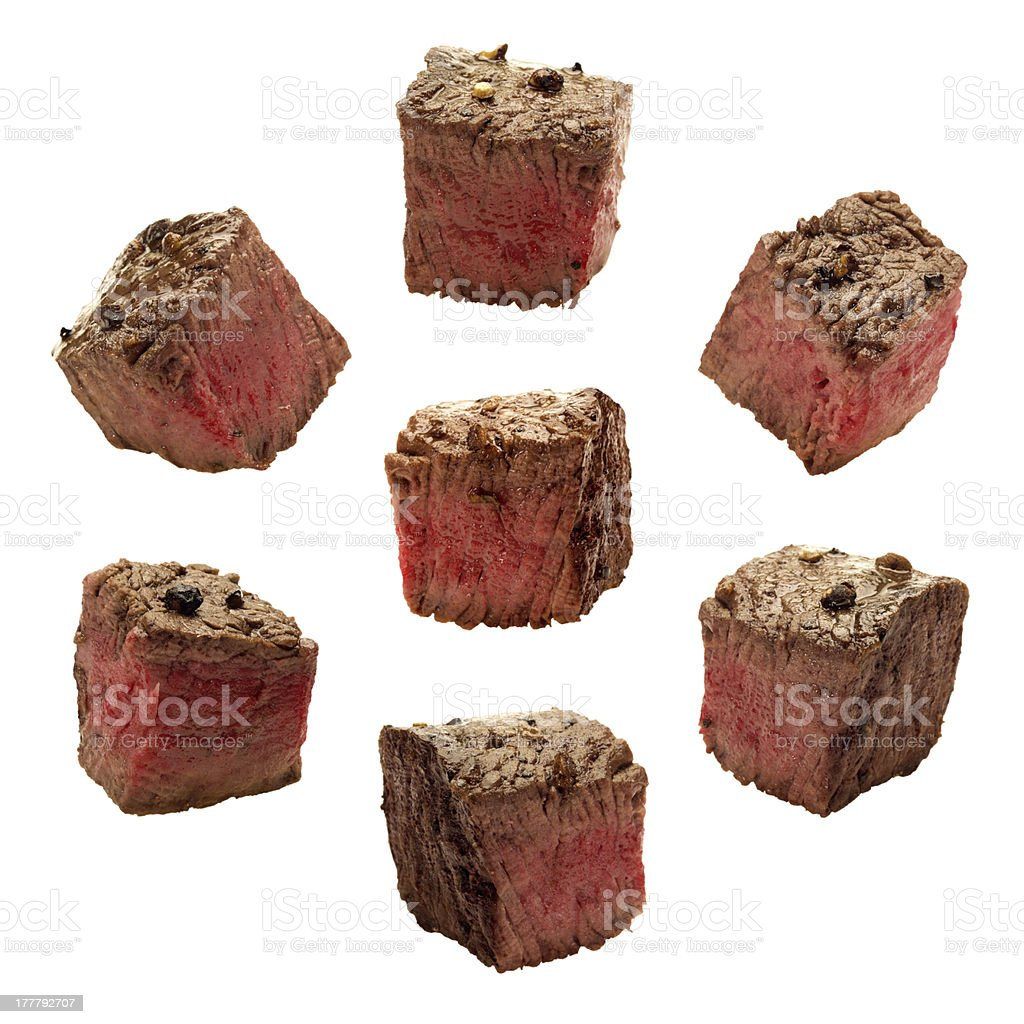 Meat Chunks isolated stock photo