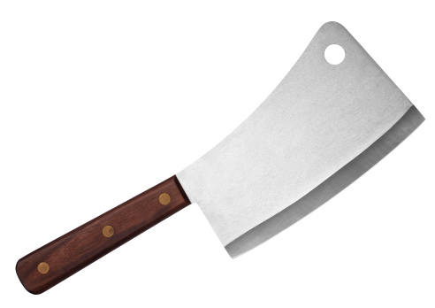 Meat Cleaver - Meat cleaver isolated on white background.