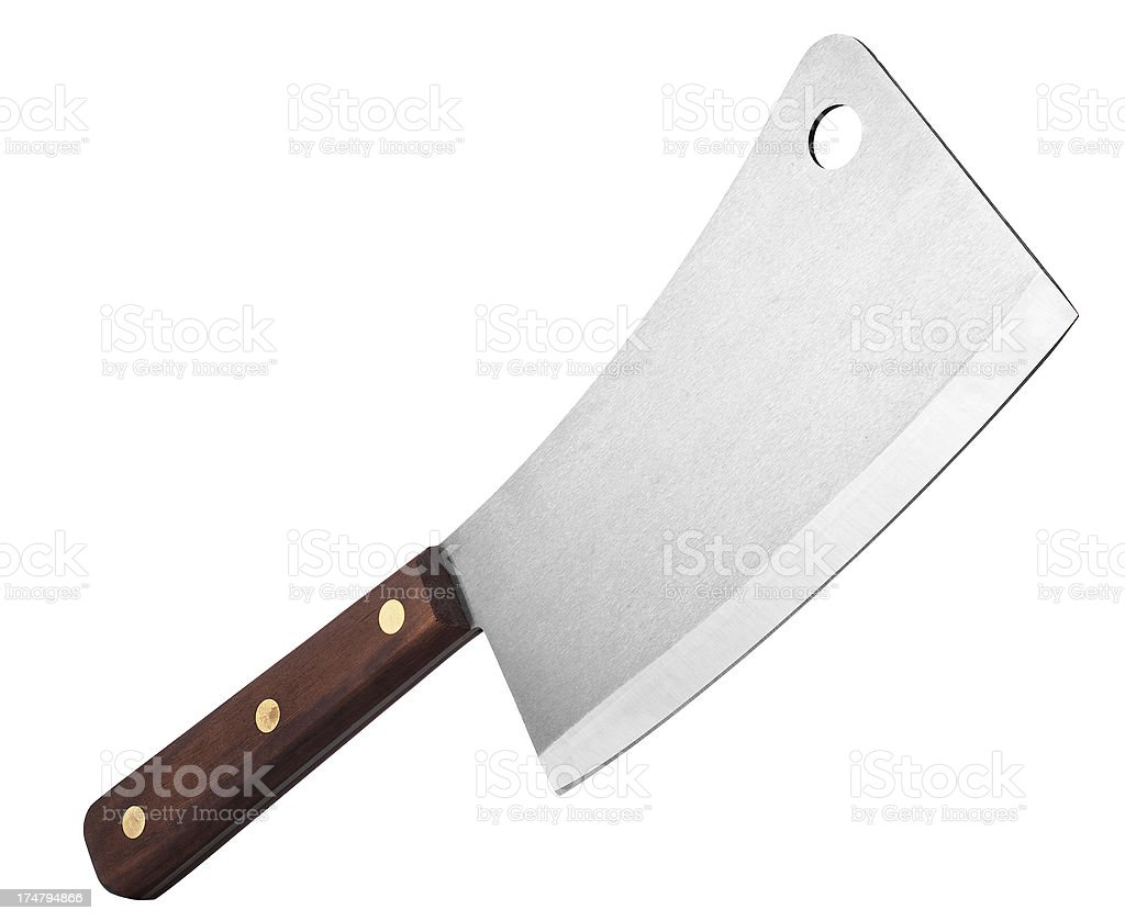 Meat Cleaver royalty-free stock photo