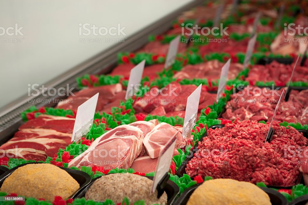 Meat Counter royalty-free stock photo