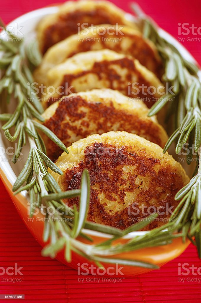 Meat cutlets with rosemary royalty-free stock photo
