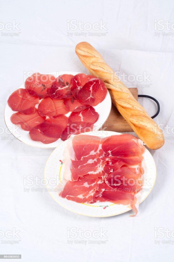 Meat delicatessen stock photo
