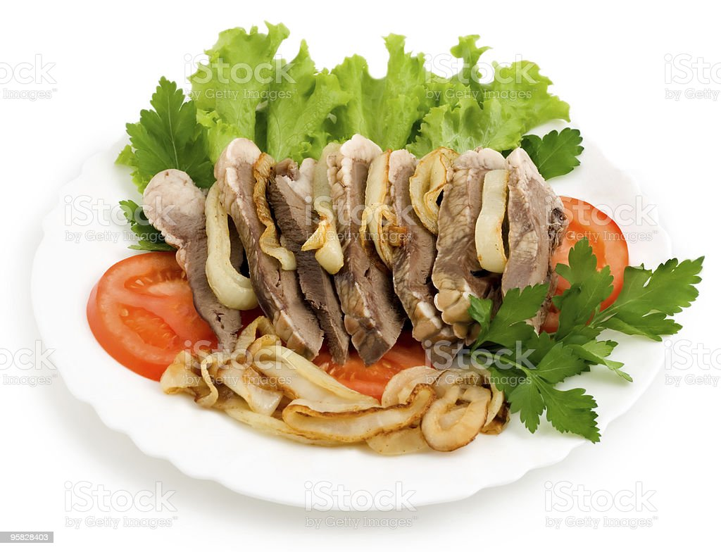 meat dish salad royalty-free stock photo