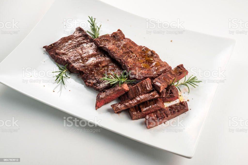Meat dish Skirt Steak royalty-free stock photo
