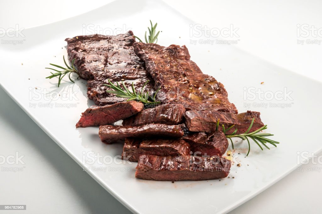Meat dish Skirt Steak royalty-free stock photo