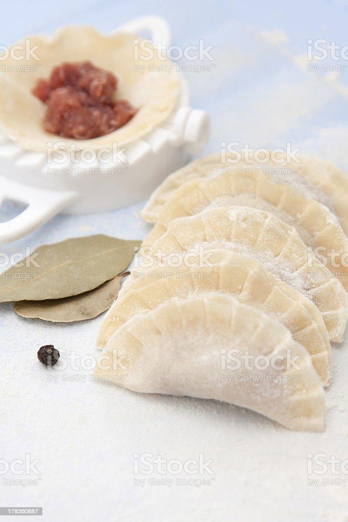 Meat dumplings royalty-free stock photo