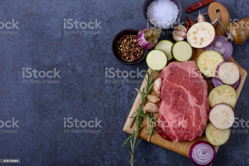Meat from black angus stock photo