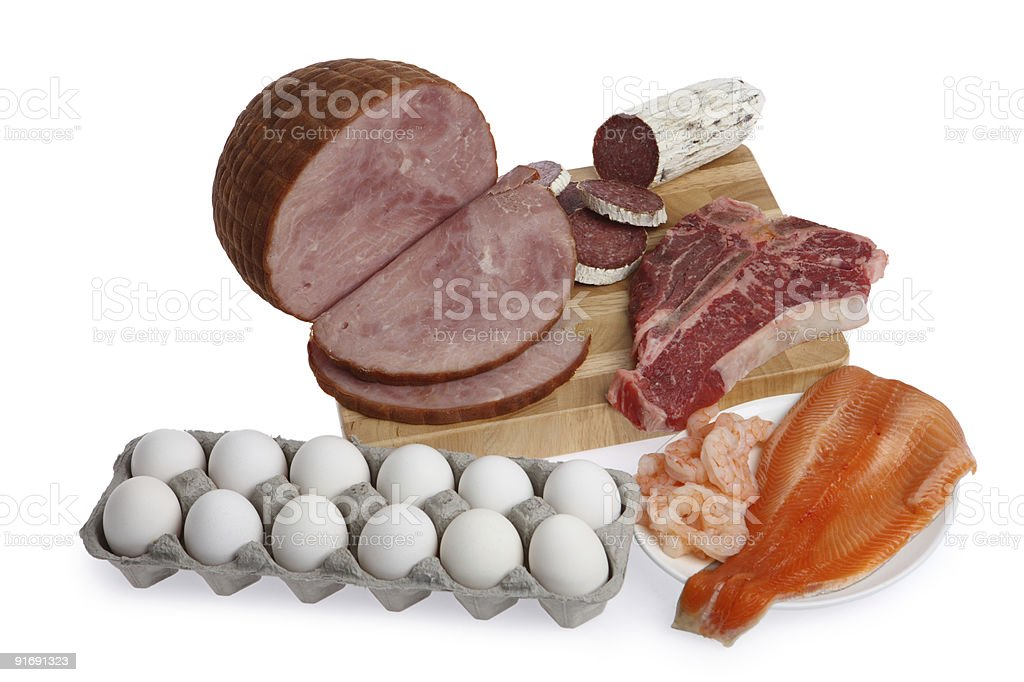 Meat group stock photo