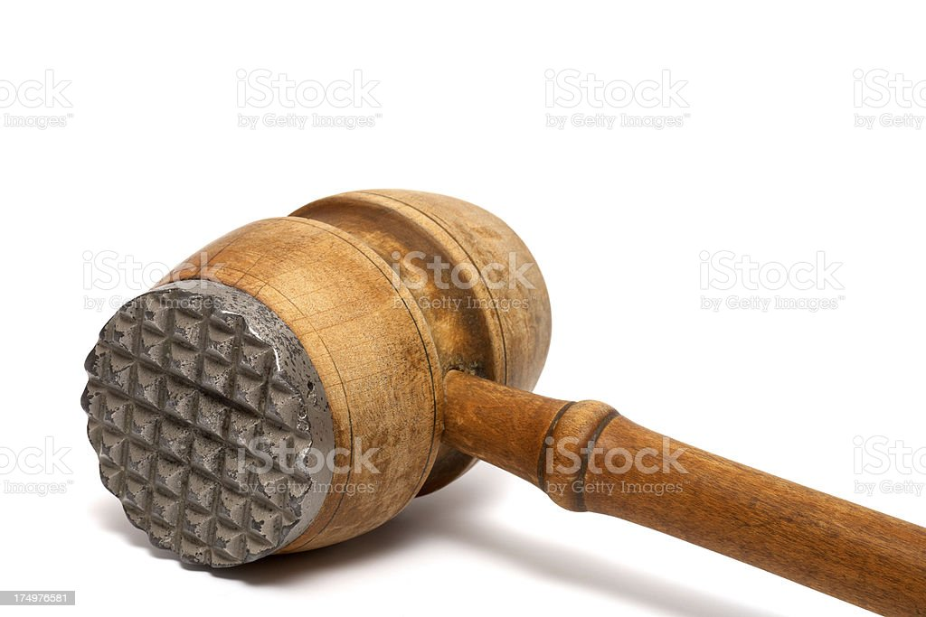 Meat hammer stock photo