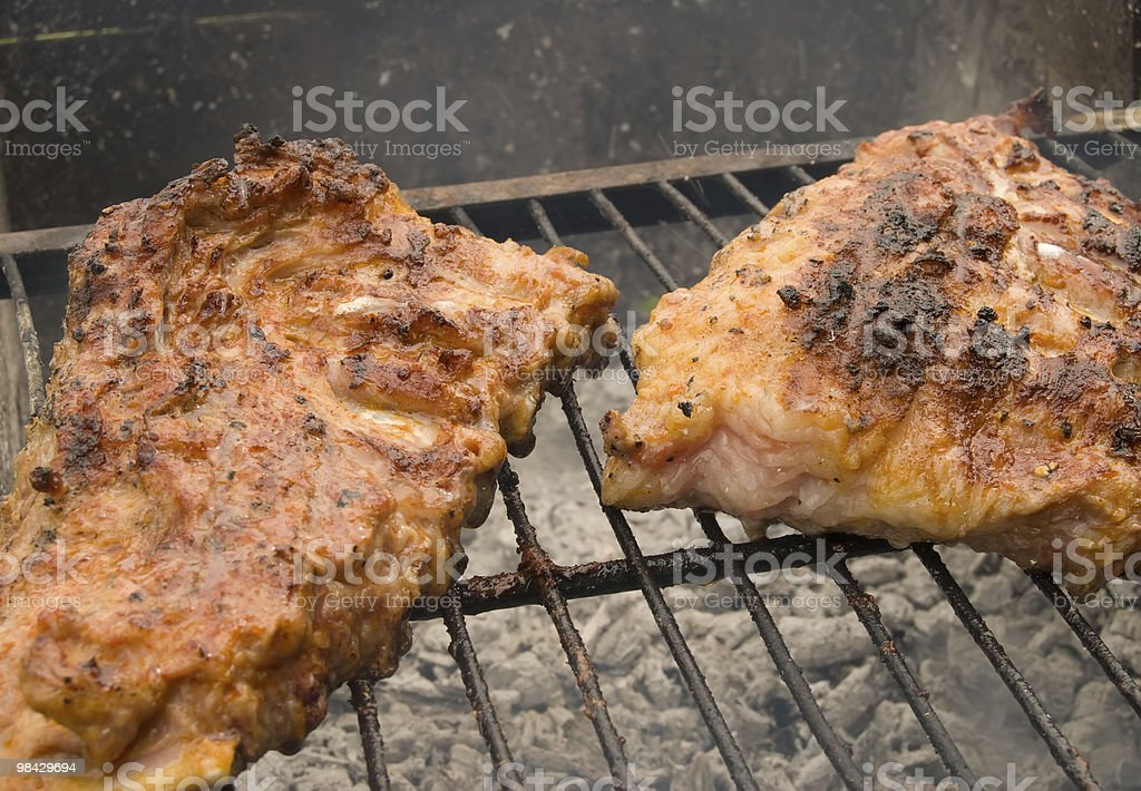 meat is a grill royalty-free stock photo
