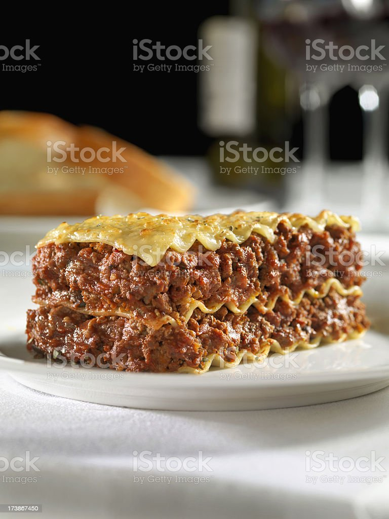 Meat Lasagna royalty-free stock photo
