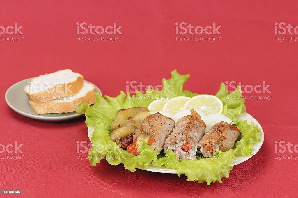 Meat loaf royalty-free stock photo
